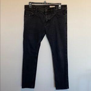 All Saints Jeans Black Straight Leg
